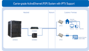 Carrier-grade ActiveEthernet (P2P) System with IPTV support